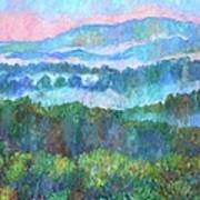 Foggy View From Mill Mountain Art Print