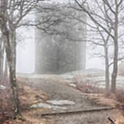 Foggy View Of The Summit Of Mount Battie Art Print