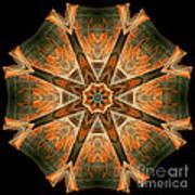 Folded 8-pointed Kaleidoscope Image Art Print
