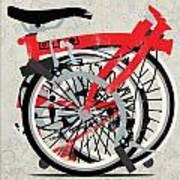 Folded Brompton Bike Art Print by Andy Scullion