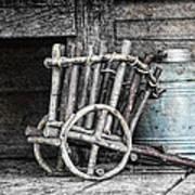 Folk Art Cart Still Life Art Print by Tom Mc Nemar