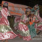 folk dance group from Madagascar 2 Art Print