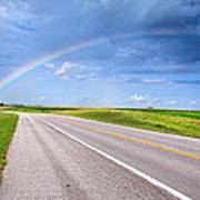 Follow The Rainbow Art Print