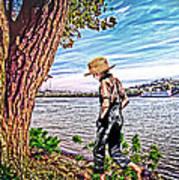 Following The River Art Print