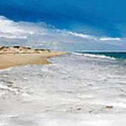Folly Beach Scenic Walk Art Print