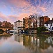 Folly Bridge In Oxford. Art Print