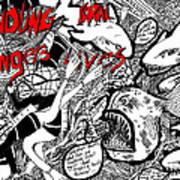 Fondling Coral..endangers Lives Art Print