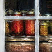 Food - Country Preserves  Art Print by Mike Savad