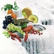 Food On Ice Art Print