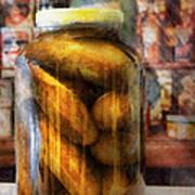 Food - Vegetable - A Jar Of Pickles Art Print
