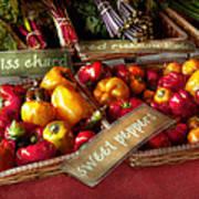 Food - Vegetables - Sweet Peppers For Sale Art Print