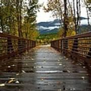 Foot Bridge In Grand Teton Art Print
