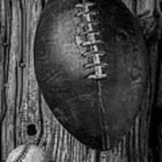 Football And Baseball Art Print