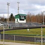 Football Field In Clare Michigan Art Print