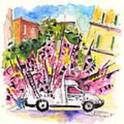 Football Flags From Palermo Art Print