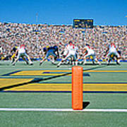 Football Game, University Of Michigan Art Print