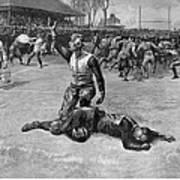 Football Injury, 1891 Art Print