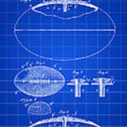 Football Patent 1902 - Blue Art Print