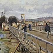 Footbridge At Argenteuil Art Print