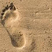 Footprint In The Sand Art Print