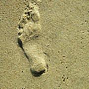 Footprint Art Print by Lorraine Heath