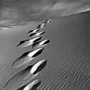 Footprints In Sand Art Print