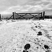 Footprints In The Snow Art Print by John Farnan