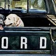 For Our Retriever Dogs Art Print