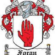 Foran Coat Of Arms Irish Art Print