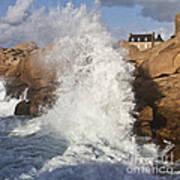 Force Of Breaking Waves Art Print