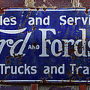 Ford And Fordson Sign Art Print