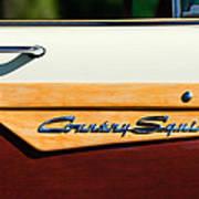 Ford Country Sedan Emblem Art Print