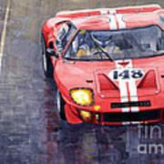 Ford Gt 40 24 Le Mans  Art Print