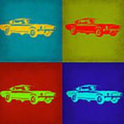 Ford Mustang Pop Art 1 Art Print