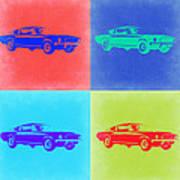 Ford Mustang Pop Art 2 Art Print
