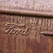 Ford Name Plate Art Print
