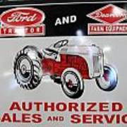 Ford Tractor Sign Art Print