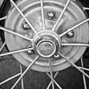 Ford Wheel Emblem -354bw Art Print
