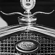 Ford Winged Hood Ornament Black And White Art Print