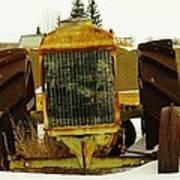 Fordson Tractor Plentywood Montana Art Print
