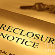 Foreclosure Notice Art Print by Olivier Le Queinec