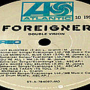 Foreigner Double Vision Side 1 Art Print
