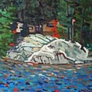 Forest Cottage Art Print