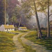 Forest Cottages Art Print