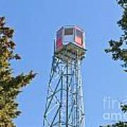 Forest Fire Watch Tower Steel Lookout Structure Art Print