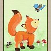 Forest Friends - Fox Art Print