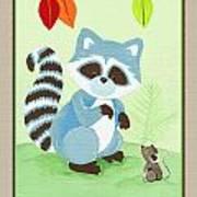 Forest Friends - Raccoon  Art Print