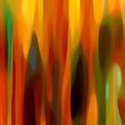 Forest Sunlight Vertical Art Print