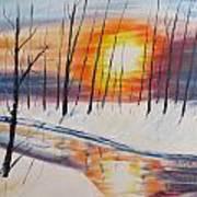 Forest Sunset Art Print