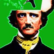 Forevermore - Edgar Allan Poe - Green Art Print